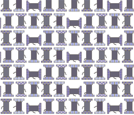 bobines_bleues fabric by aliceandcodesigns on Spoonflower - custom fabric