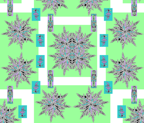 Tchaikovsky' s Nutcracker Snow Menagerie fabric by aindreemcg on Spoonflower - custom fabric