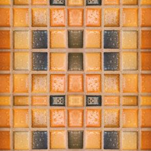 Golden Ancient Mosaic