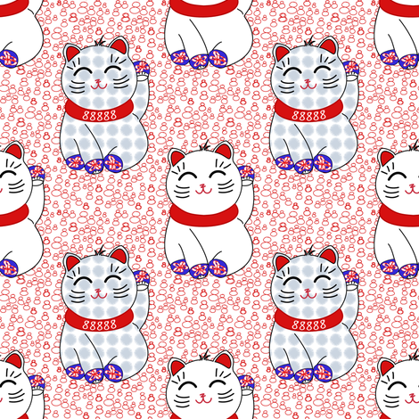 Lucky kittens in mittens by Su_G fabric by su_g on Spoonflower - custom fabric