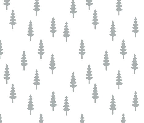 forest // grey - Northern Lights fabric by littlearrowdesign on Spoonflower - custom fabric