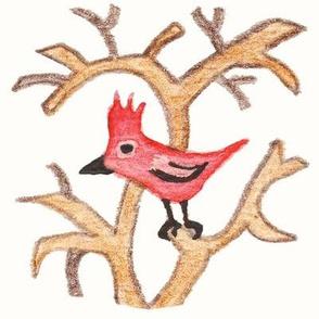Cardinal in the Tree