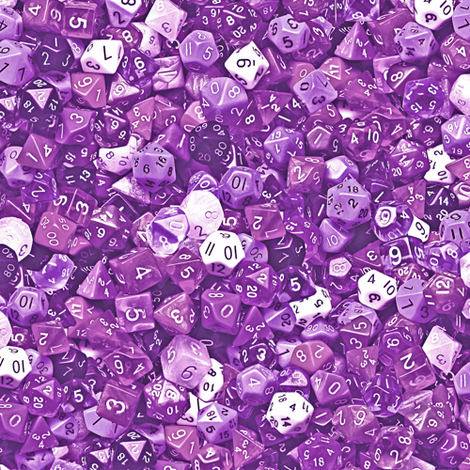 a sea of purple dice  fabric by weavingmajor on Spoonflower - custom fabric