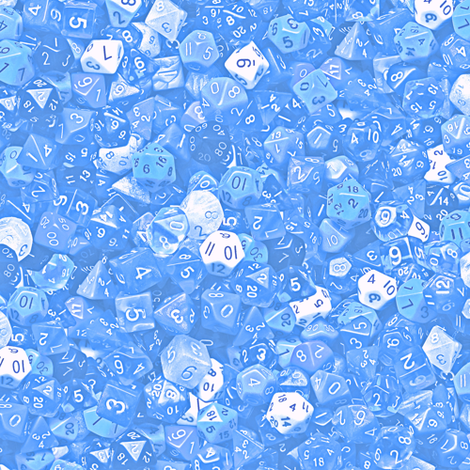 a sea of baby blue dice fabric by weavingmajor on Spoonflower - custom fabric