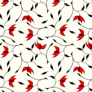 Strange Red Flower Pattern