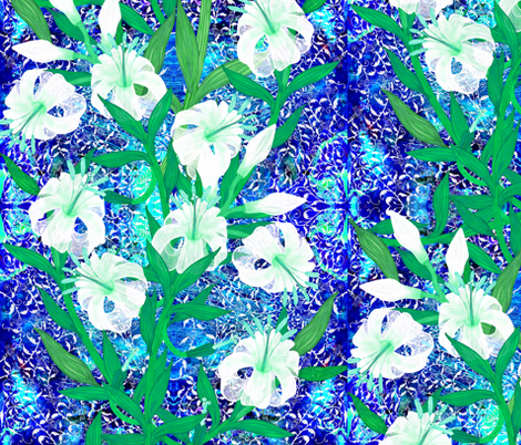 Ottoman Lily fabric by joancaronil on Spoonflower - custom fabric