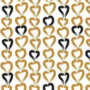 Hearts in brush