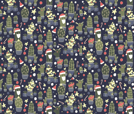 Christmas Cacti fabric by sstilwell on Spoonflower - custom fabric