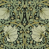 William Morris ~ Pimpernel ~ Original on Black
