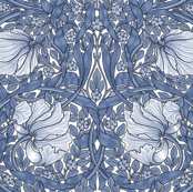 William Morris ~ Pimpernel ~ Blue and White