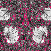 William Morris ~ Pimpernel ~ Black and White on Courtesan