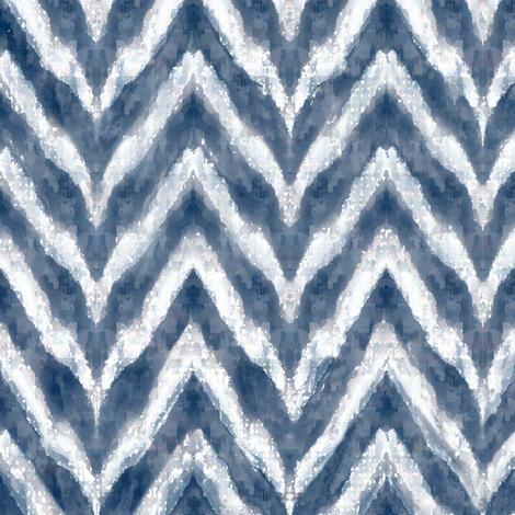 Ultra Chevrons - Indigo fabric by kristopherk on Spoonflower - custom fabric