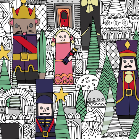 The Nutcracker fabric by scrummy on Spoonflower - custom fabric