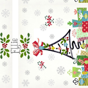 White Christmas Med vertical-year-personalized gray