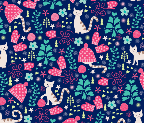 kittensmittens fabric by jill_o_connor on Spoonflower - custom fabric