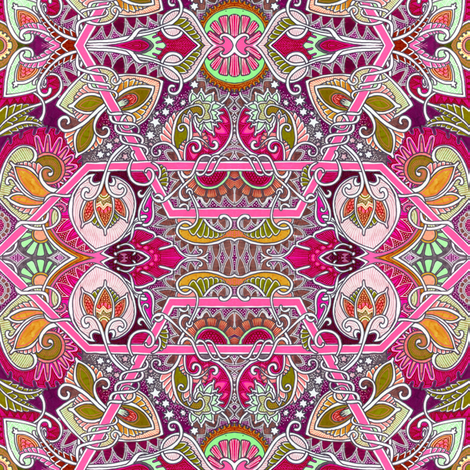 Spore Galore fabric by edsel2084 on Spoonflower - custom fabric