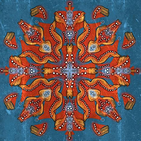 Pants on Fire Mandala fabric by hekadesign on Spoonflower - custom fabric
