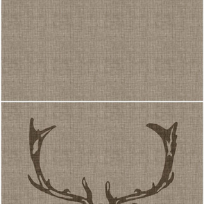 "Wild Welsh Stag 18"" x 18"" - Faded French Linen Brown"