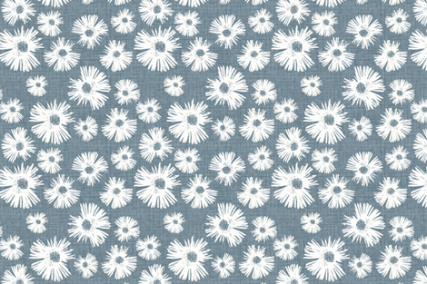 Custom Paper Daisy Large - Faded French Blue fabric by kristopherk on Spoonflower - custom fabric