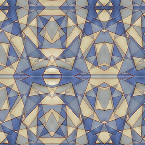 Triangular Abstract in Blue
