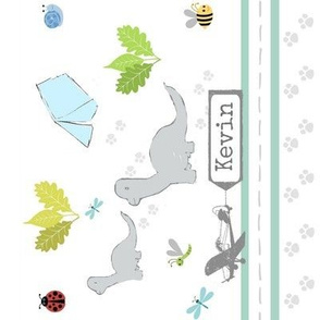 dino friends personalized- vertical