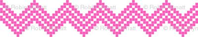 Nordic Star Chevron pink/white