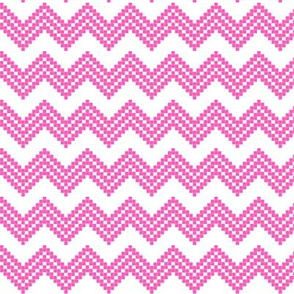 Nordic Star Chevron pink/white