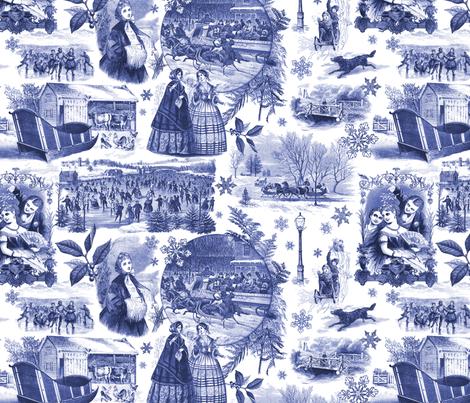 Walking in a Winter Wonderland fabric by reneechristine on Spoonflower - custom fabric
