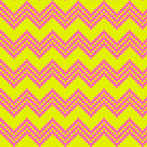 Star Chevron Lime/Pink! fabric by parisbebe on Spoonflower - custom fabric