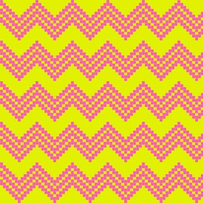 Star Chevron Lime/Pink!