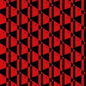 Black Beaked Red Birds