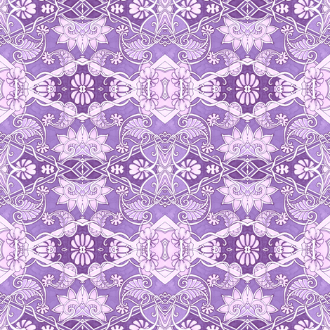 Lavender Lace Place fabric by edsel2084 on Spoonflower - custom fabric