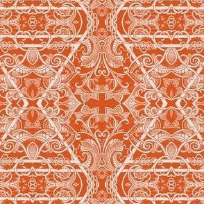 Orange Diamond Paisley Thing