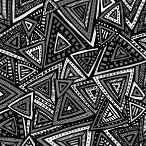 Tribal Triangles (Gray)