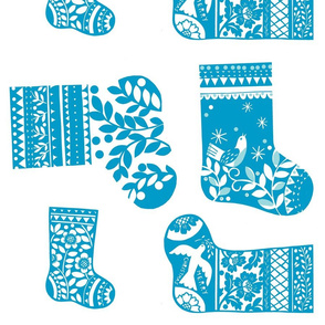 Christmas Stockings - Blue