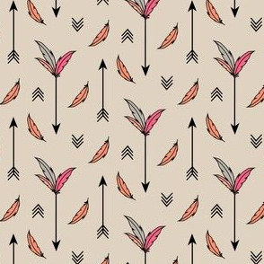 Arrows and Feathers Pink