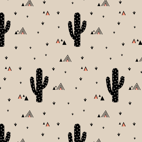 Cactus Coral fabric by kimsa on Spoonflower - custom fabric