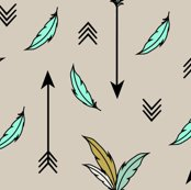 arrows and feathers mint fabric kimsa spoonflower