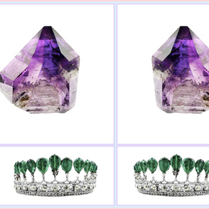 Amethyst and Emerald Crown Jewels