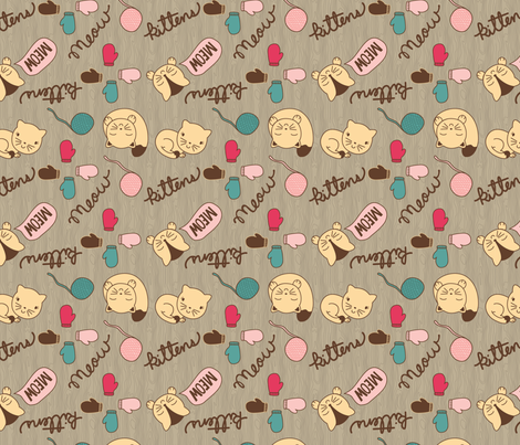 Cute_Kitten___Mittens_SF2 fabric by claudia_ramos_designs on Spoonflower - custom fabric