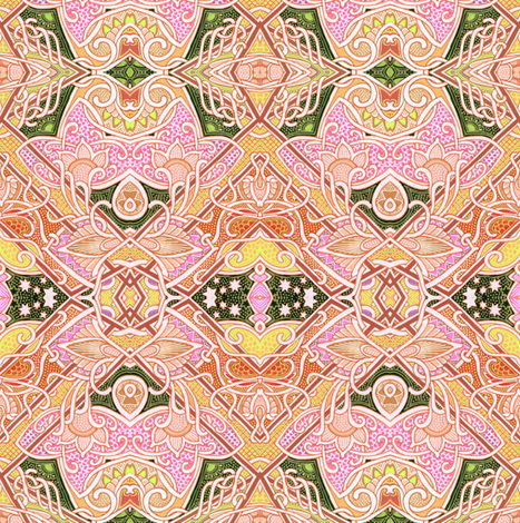 When Squares Lose All Humility (peach) fabric by edsel2084 on Spoonflower - custom fabric