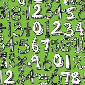 math doodle green