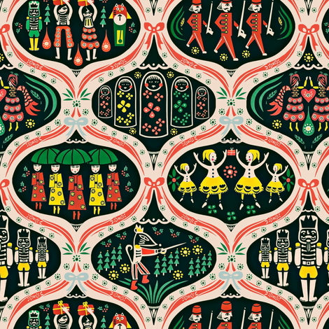 Nutcracker fabric by susan_polston on Spoonflower - custom fabric