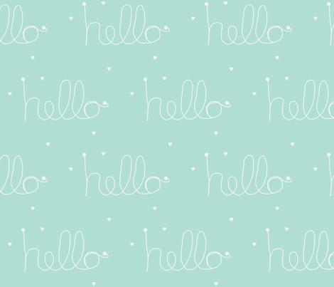 hello mint-ch fabric by ninaribena on Spoonflower - custom fabric