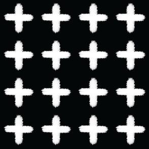 Plus White on Black - Small Print