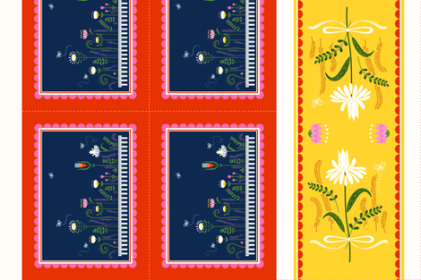 Garden Party - Cut and Sew Table Linen Set fabric by michalwright-ward on Spoonflower - custom fabric