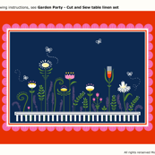 Garden Party - Cut and Sew Placemat