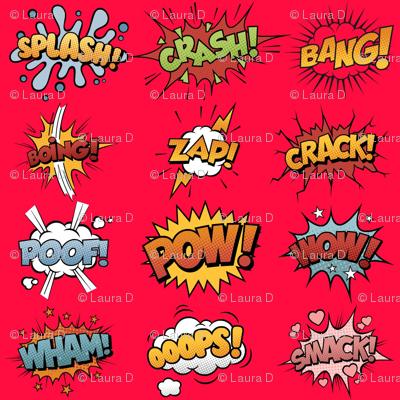 Comic Book Rumble Poof Wham Splash Boing Pow Zap