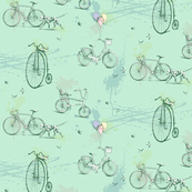 Bicycles and Dalmation
