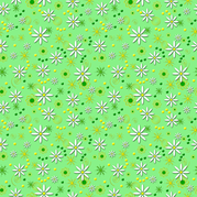 Daisies in the Stars fabric by naturessol on Spoonflower - custom fabric